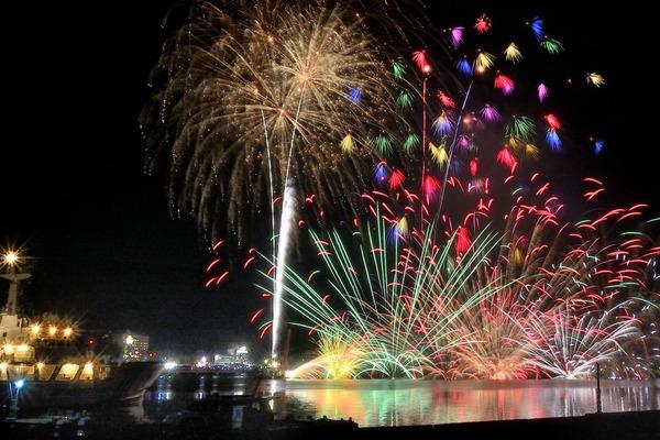 「黒船祭・海上花火大会」  竹之内範明