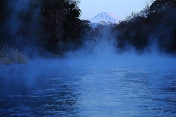 「柿田川の川霧」  高根美奈夫