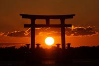 <静岡の今> 「浜名湖の夕日」  辻村友博