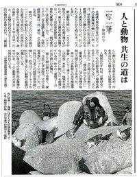 一写一筆(第11回) 朝日新聞掲載