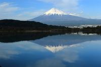<静岡の今> 「富士川の逆さ富士」 高根美奈夫