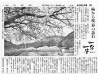 一写一筆(第66回)朝日新聞に掲載