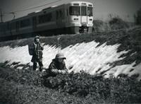 モノクロ写真の部 特選 「水菜つみ」 植松きくゑ