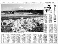 一写一筆(第97回)朝日新聞に掲載