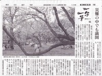 一写一筆(第100回)朝日新聞に掲載
