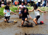 「泥んこ競争」  佐野 廣